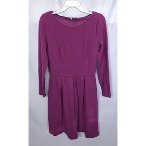 Anthropologie Boden Long Sleeve A-Line Dress